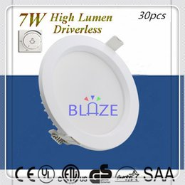 Wholesale 2016 Hot Sale Dimmable Driverless W HV SMD led downlight Paint White shell mm Cutout Cabinet Lampe Ra gt