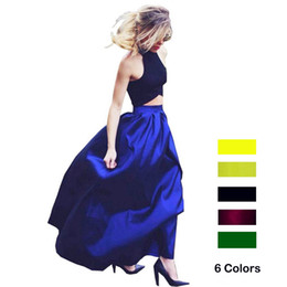Wholesale Women Maxi Skirt Plus size XL XL American Apparel CM Long Pocket Zipper Skirts Elegant High Waist Jupe faldas largas verano mujer