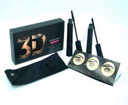 Wholesale HOT NEW Makeup Mascara set D Fiber Lashes Black color High quality set DHL GIFT