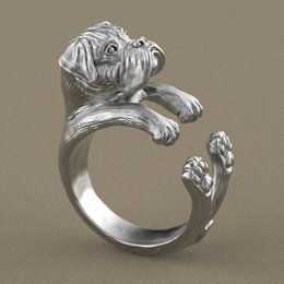 Free shipping 30pcs   lot wholesale adjustable hippie pug Ring free size punk animal pug dog Ring jewelry for pet lovers