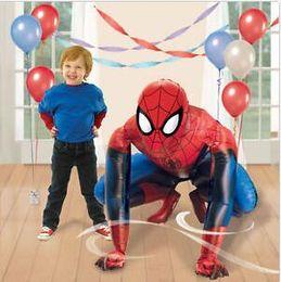 Wholesale 36 quot Spiderman Iron Man Airwalker Foil Balloon Party Decorating Supplies Huge cm SPIDERMAN Airwalker Elsa Mermaid Foil Helium Balloon