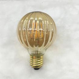 Wholesale New product pumpkin lamp Filament Edison LED Bulb E27 warm white v Degree Lamp w w pumpkin Housing led save energy light