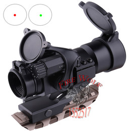 Wholesale 2016 NEW M2 Sighting Telescope Laser Gun Sight with Reflex Red Green Dot Scope for Picatinny Rail