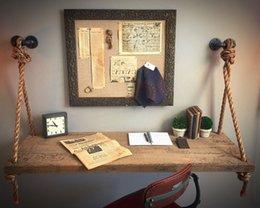 Wholesale industrial pipe single desk shelving Industrial DIY pipe book desk