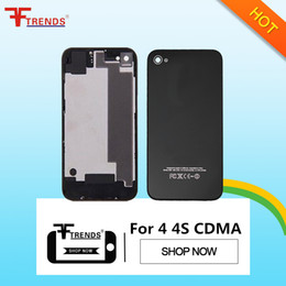 Wholesale Price for iPhone 4 4 CDMA 4S Back Glass Battery Housing Door Back Cover Replacement Repair Parts Free Shipping