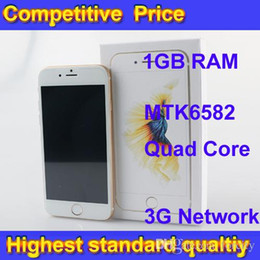 Wholesale Clone Phone i6s Goophone Real GB Ram GB ROM Cell Phone i6s Fingerprint identification Quad Core VS S7 S6 NOTE5 DHL Free