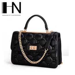 Wholesale Factory direct sales of brand new leather bag leather and rhombus chain bag leather handbag authentic small luxury fashion lady bag