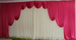 m m blanco ice seda teln de fondo de la boda cortinas de fondo rojo