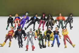 Wholesale DC Comics Superman Green Lantern The Flash The Atom Black Canary PVC Action Figures Collection Model Toys set