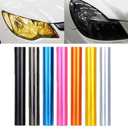 Wholesale 7 colors x120cm x48inch Auto Car Tint Headlight Taillight Fog Light Vinyl Smoke Film Sheet Sticker Cover colors