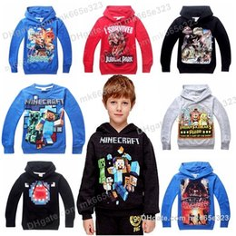 Wholesale Kids Dinosaur Clothes Autumn children Long sleeve Hoodies Big Boys Girls Sportswear Casual Coats Baby Tops Outwear Clothing