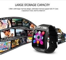 Wholesale NFC Smart Watch Phone Q18 Arc Clock Support SIM TF Card GSM Bluetooth Smartwatch Sport With Camera for iPhone Android Phone PK M26 DZ09 GT08