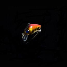 New 10 Colour MINI Vibration Lure Bait Laser Minnow fishing gear bionic bait lures Lure 3D Eye Fishing lures 1.5g