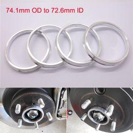4pcs Brand New Wheel Hub Centric Rings 74.1mm OD to 72.6mm ID Aluminium Alloy
