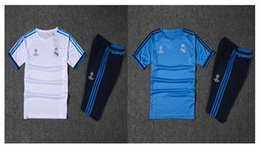 Wholesale Real Madrids soccer jerseys football shirts white kit uniform de foot maillot best quality training suit adult sets