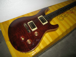 Wholesale Guitars High Quality Newest Brown Custom Electric Guitar Top Musical instruments A123