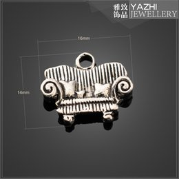 Wholesale Sofa zinc alloy charm pendant Antique silver DIY jewelry accessories SH1920 DIY jewelry Findings Components