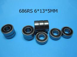 686RS ABEC-5 cojinetes mini 10pcs caucho sellado Mini Bearing envío gratuito 686 686RS 6 * 13 * 5 mm de cojinete de acero de cromo desde rodamientos 5mm proveedores