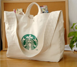 Wholesale 2016 Starbucks Starbucks Messenger Shoulder Mummy Bag Canvas leisure shopping bags Large Shoulder Bag Messenger Bag
