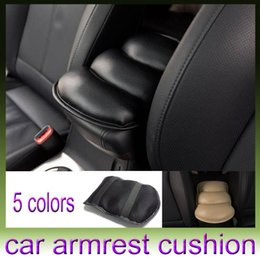 Wholesale Interior Accessories Seat Covers Car Armrest Cushion Pad Cover Vehicle Auto Center Console Arm Rest Seat Case Soft PU Mats