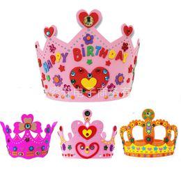 Crown Hats EVA Children Puzzle Handmade Nursery Toys DIY Material for Chlidren 3-6 Years Old