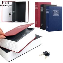 Wholesale Security Dictionary Cash Box - Dictionary Book Secret Hidding Security Safe Lock Cash Money Jewellery Locker Box 3 Colors for Choice