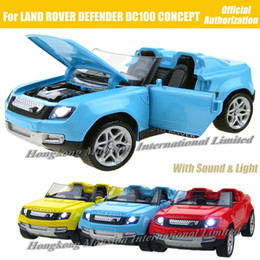 1:32 Scale Diecast Alloy Metal Car Model For Defender DC100 Sport CONCEPT Collection Model Toys Car With Sound&Light