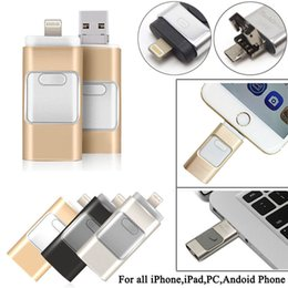 Wholesale NEW3 IN i Flash Drive USB GB USB U Disk pin Memory Stick For iPhone S C plus plus