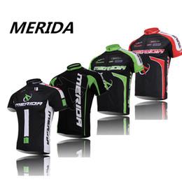 jerseys de la bici Mérida verde ciclo de la mujer camisas del desgaste ropa de la bicicleta carretera ciclo Jersey hombres negros desde ciclismo camisa de mérida fabricantes