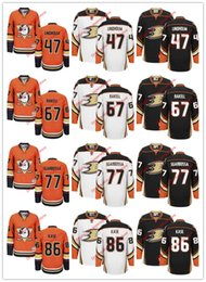 Custom 2016 2017 NHL Hockey sur glace Anaheim Ducks Jerseys, 47 Hampus Lindholm 67 Rickard Rakell 77 Michael Sgarbossa 86 Ondrej Kase Blanc Orange à partir de fabricateur