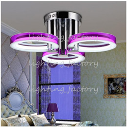 LED Comtemporary Acrylic Flush Mount Lights with 3 Lights in Rings Design Sested Room Fit Dining Room, Bedroom, Living Room Free Shipping