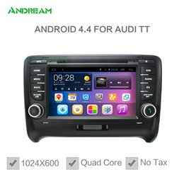 Wholesale 1024 Quad Core In dash Car DVD Radio Android Bluetooth gps navigation For AUDI A3 A4 TT Free EU shipping NO TAX