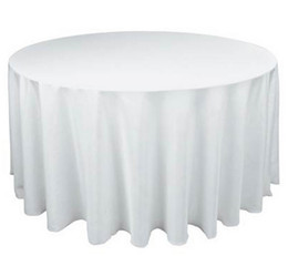"10PCS 90"" New Tablecloth Table Cover Round Plain Polyester for Banquet Wedding Party Decor tablecloth table cover"