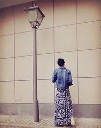 Wholesale 2016 new a Australian counter force to cut exports Weihuo retro geometric dress big swing skirts