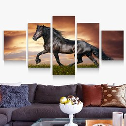 5p modern home HD picture oil painting canvas print art wall living room children room study decoration theme - Black