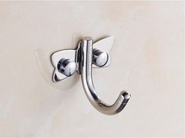 Wholesale 150pcs Stainless Steel Double Hook Wall Hat Coat Clothes Towel Robe Bath Wall Door Hanger Hooks For Home Decroration ZA0409