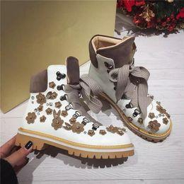 Women Short boots snow boots16 Autumn Winter Ladies Fashion Warm Ms. flat short boots Work Boots Snow Shoes Brand fashion Leather flat shoes