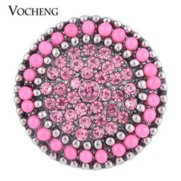 NOOSA 18mm Snap Charms Bumpy Road 3 Colors Crystal Round Bead DIY Jewelry for Women VOCHENG Vn-1095
