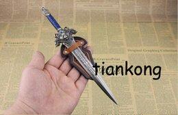 Wholesale Sword model Metal Keychain Model Toy Craft gift cm
