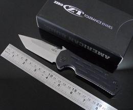 hot sale.Zero Tolerance ZT 0620CF Titanium Framelock Folding Knife w  Emerson Wave!