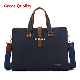 Wholesale New Men Leather Briefcase Computer Laptop Bag Brands Business Handbag Men s Travel Bags Briefcase Brown Black And Blue