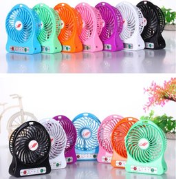 Wholesale Free DHL Mini Protable Fan Multifunctional USB Rechargerable Kids Table Fan LED Light Battery Adjustable Speed F95B Silent Fan