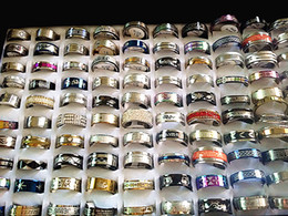 wholesale bulk lots 200pcs mix styles high quality 316L stainless steel men's women's fashion jewelry rings brand new