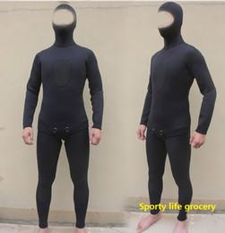 Wholesale New arrival Neoprene swimsuits scuba diving wetsuit Men s diving suit neoprene speafishing wetsuit mm tickness solid black