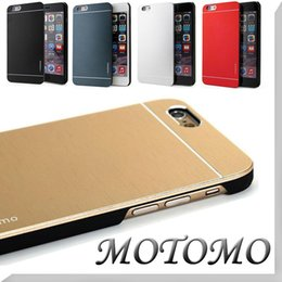 Wholesale Motomo Aluminum Burshed Metal Ultra Thin PC Hard Cover Case For iPhone S Plus S Samsung Galaxy S7 S6 Edge Note Free Ship MOQ