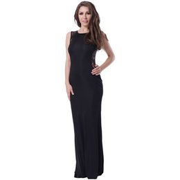 2017 New Sexy Formal Fashion High Quality Women Black Evening Dresses Sexy Charming Unique sleeveless Runway Dresses