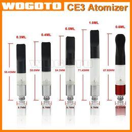 BUD Touch Vaporizer WAX CBD Hemp Oil CE3 Atomizer 510 Cartridge O Pen CE3 0.1 0.3 0.4 0.6 1.0ml vapor thick Waxy Smoking Mini Tank dex vape