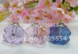 free shipping!!!100pcs lot Four Leaf Clover crystal bottle mixed color you can choose