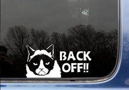 funny Grumpy Cat Back Off - funny tailgating   tailgater car window wall phone funny die cut decal sticker