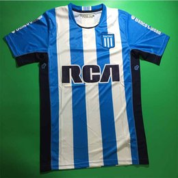 Wholesale Argentina Racing Club de Avellaneda Soccer jersey Home Blue MILITO LISANDRO Racing Shirt jerseys best Quality